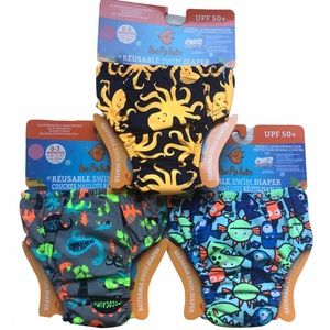 NWT 3 x Reusable Swim Diapers